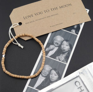 Men's Moon And Back Bracelet