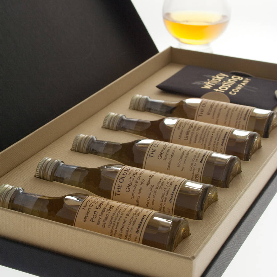personalised five bottle whisky gift set by whisky tasting company. Black Bedroom Furniture Sets. Home Design Ideas