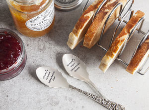 Personalised Silver Plated Jam Spoon