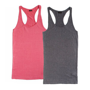Racer Tank Top In Cotton Silk - tops & t-shirts