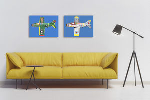 Pop Art Jet Canvas Print - modern & abstract