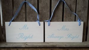 Mr And Mrs Wedding Sign - home accessories