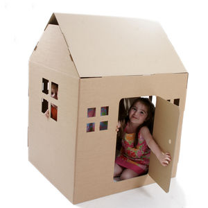 Paperpod Playhouse Brown - outdoor toys & games