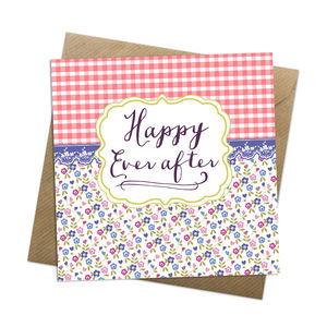 Happy Ever After Card - wedding cards