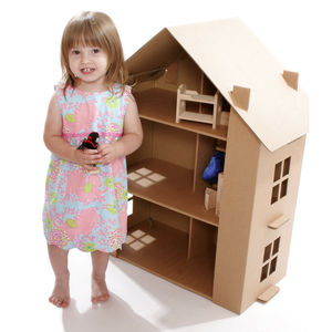 Paperpod Doll's House Brown - pretend play & dressing up