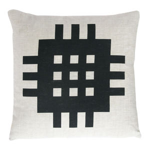 Welsh Blanket Motif Print Cushion - cushions