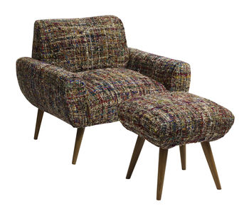 Nordal Chindi Fabric Armchair And Footstool