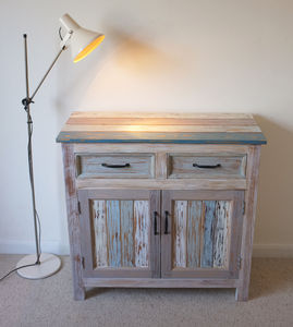 Beach Hut Style Cupboard Reclaimed Wood - furniture