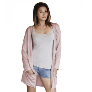 Cotton Silk Long Cardigan