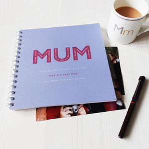 Personalised 'Mum' Keepsake Album - mum loves