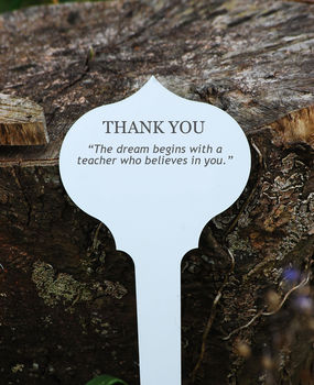 Personalised Thank You Teacher Tree Plaque