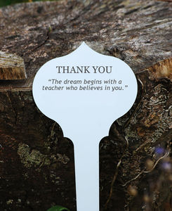 Personalised Thank You Teacher Tree Plaque - gifts for teachers