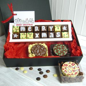 Personalised Christmas Gift Box Of Chocolates