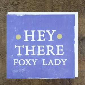 'Foxy Lady' Card - view all sale items