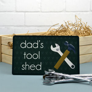 Personalised Tool Shed Door Sign - art & decorations