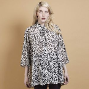 Monochrome Chiffon Shirt - luxury fashion