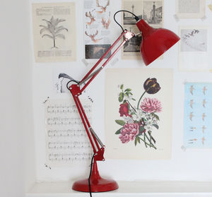 Crimson Angled Table Lamp - office & study