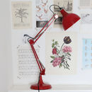 Crimson Angled Table Lamp