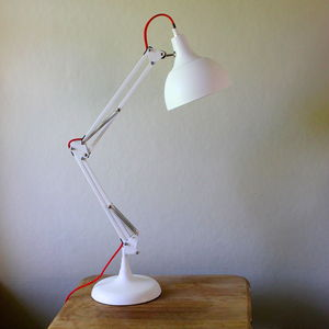 Matt White Angled Table Lamp - bedside lamps