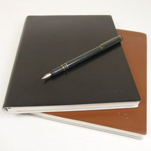 Smart Personalised Large Leather Journal