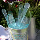 Set Of Twelve Summer Blue Party/ Wedding Cutlery