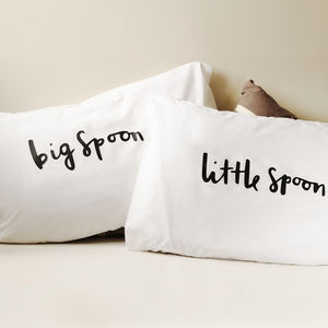 'Big Spoon Little Spoon' Pillow Cases - for the home