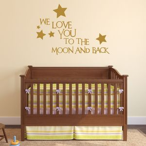 'Love You To The Moon And Back' Wall Sticker - baby's room