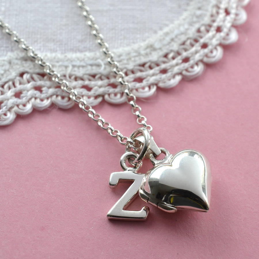 Sterling Silver Tiny Heart Locket By Martha Jackson