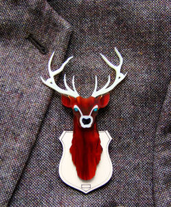 Stag Of Ten Tines Man Badge