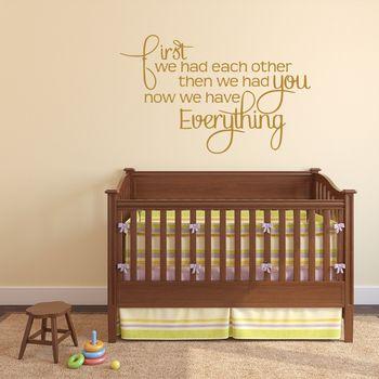 Babys Nursery Wall Sticker - Gold