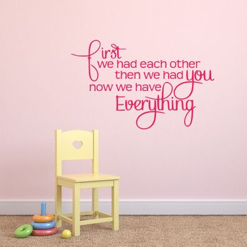 Babys Nursery Wall Sticker - Hot Pink
