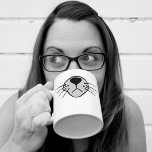 Personalised Pet Face 'Cat' Mug - mugs