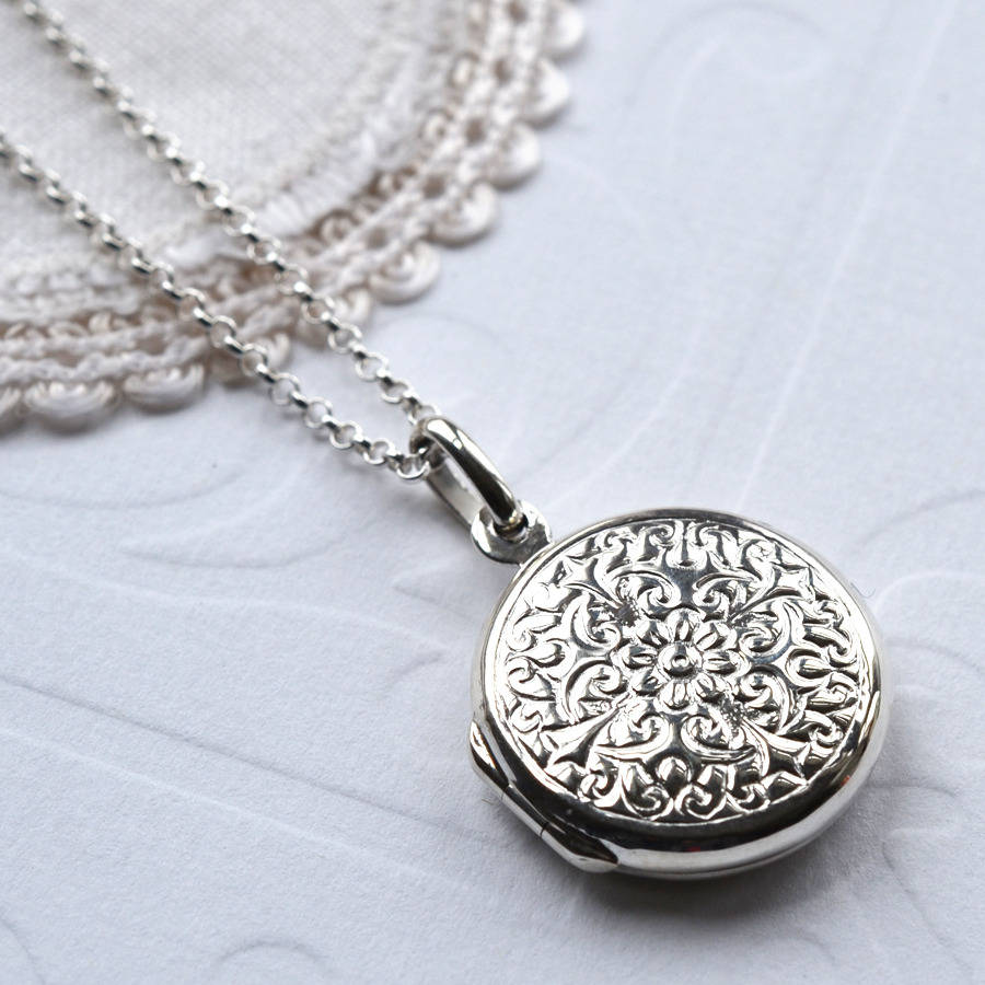 gifts memorable round lockets dangle valentine s silver engraved photo day soufeel necklace locket circle sterling charm