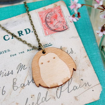 Wooden Penguin Necklace