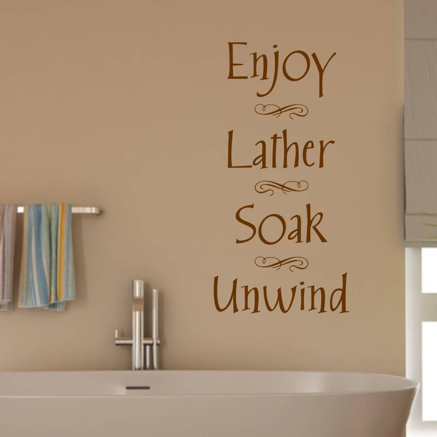 bathroom wall sticker by mirrorin | notonthehighstreet.com