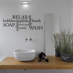 Bathroom Word Cloud Wall Sticker