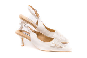 Pearl And Satin Wedding Slingbacks - wedding fashion