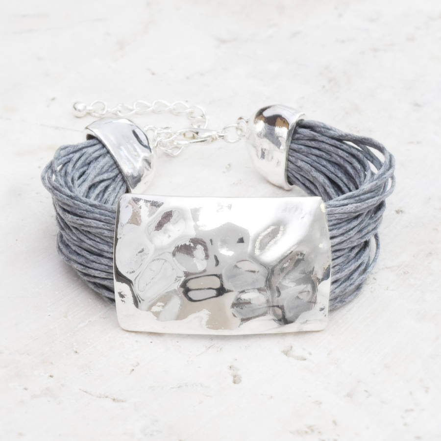 Cassidy Silver And Thread Bracelet