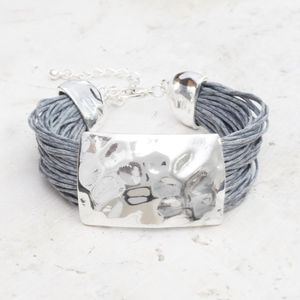 Cassidy Silver And Thread Bracelet - women's sale