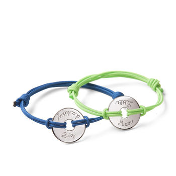 Father And Son Open Disc Bracelet Duo