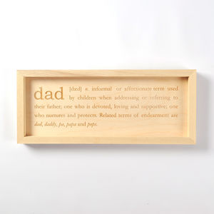 Definition Of Dad Engraving
