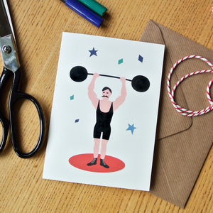 Strongman Father's Day Card