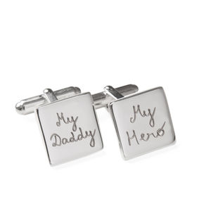 Father's Personalised Sterling Silver Square Cufflinks - cufflinks