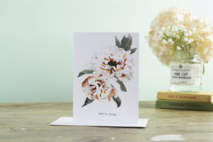 'Pretty Peony' Greetings Card