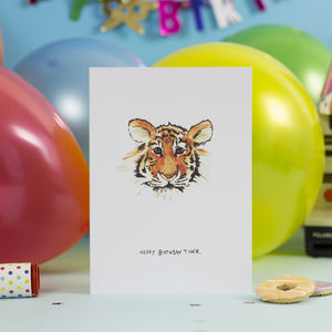'Happy Birthday Tiger' Greetings Card