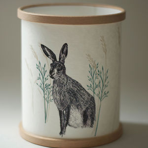 Wild Hare Illustrated Candle Cover - home accessories