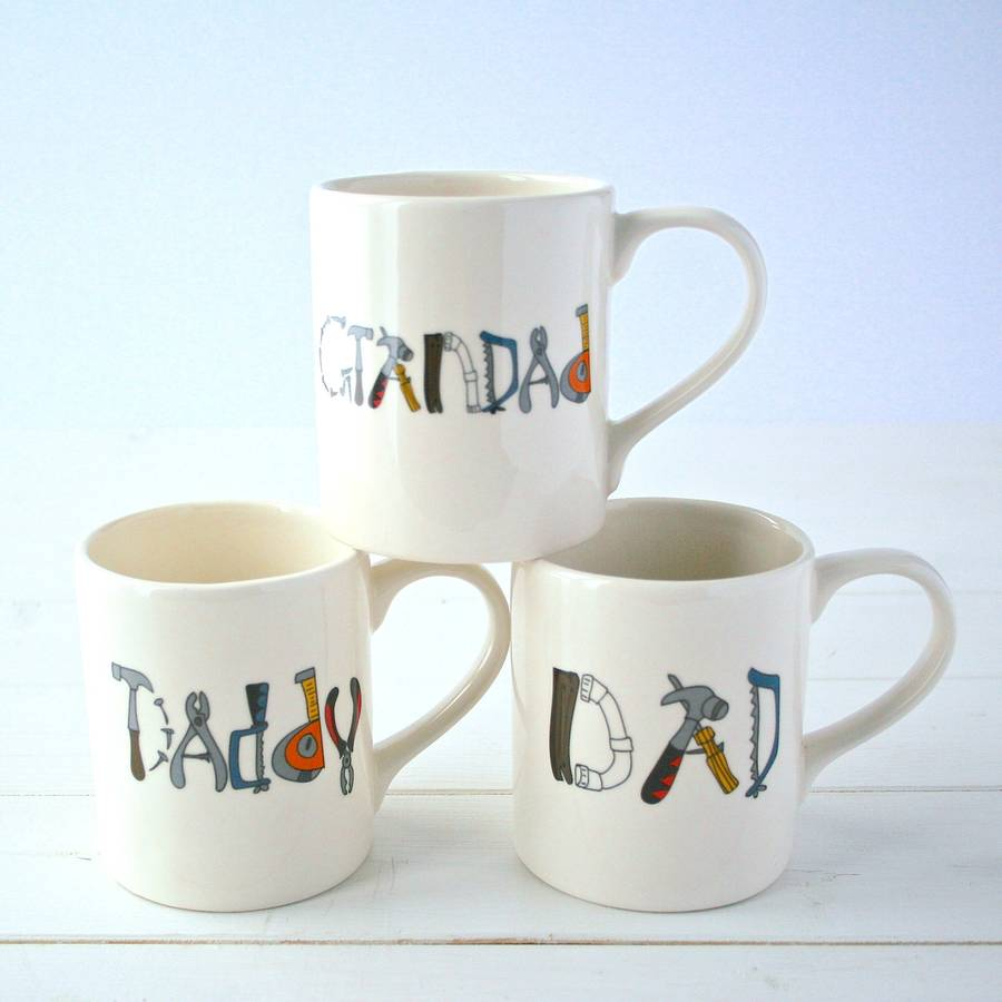 personalised tools mug by sparkle ceramics. Black Bedroom Furniture Sets. Home Design Ideas