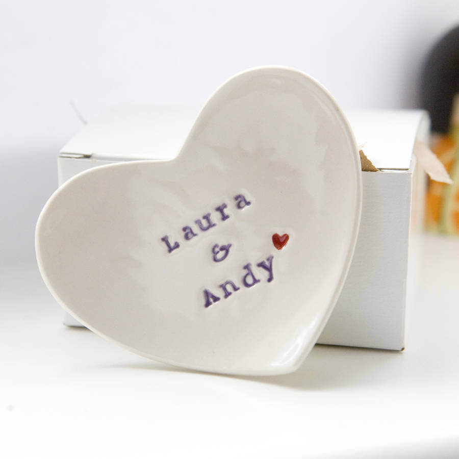 personalised wedding gift ring dish by foxery notonthehighstreet com - Wedding Ring Dish
