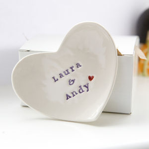 Personalised Wedding Gift Ring Dish - bedroom