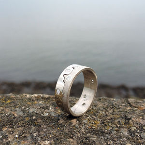Personalised Multi Diamond Coastline Ring - fine jewellery